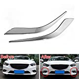 DHmart Car Styling 2Pcs ABS Auto Car Front Foglight Fog Lights Lamp Eyebrow Eyelid Eyelash Cover Trims