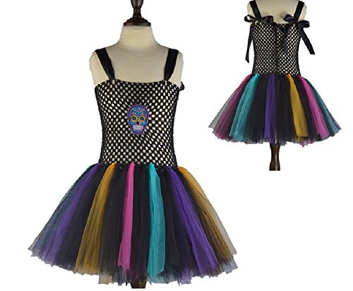 Black Multi Sugar Skull Tutu Dress Costume from Chunks of Charm (7)