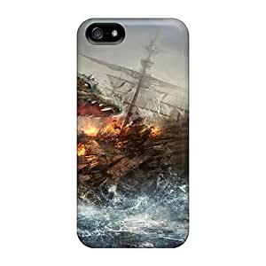 Quality CollectingCase Case Cover With Dragon Attacking A Ship Nice Appearance Compatible With Iphone 5/5s