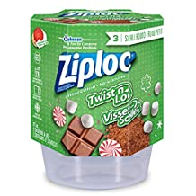 Ziploc Holiday Small Twist N Loc Containers, 3 Count