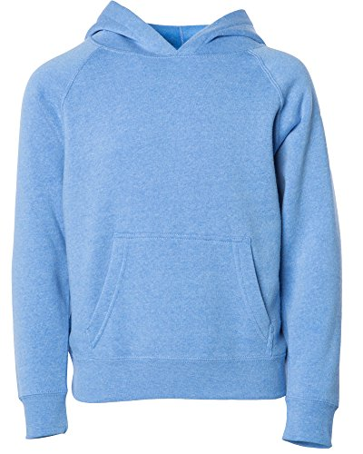 Global Big Girl Boys Pullover Hood Pocket Long Sleeve Athletic Hoodie Size 10 12 Pacific Blue