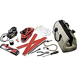UPG 86039 Emergency Road Kit in Canvas Bag - 11 Piece