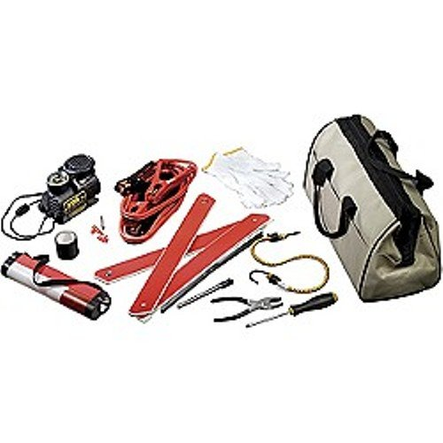 Universal Power Group UPG 86039 Emergency Road Kit in Canvas Bag - 11 Piece
