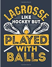 Lacrosse Like Hockey But Played with Balls: Lacrosse Student Planner, 2020-2021 Academic School Year Calendar Organizer, Large Weekly Agenda (August - July)