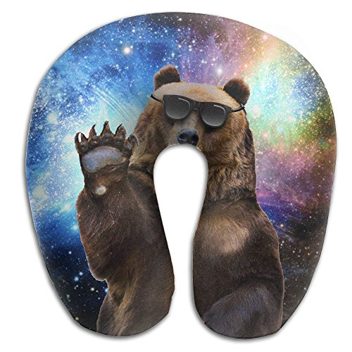Sunglasses Waving Bear Duplex Print Neck Pillow Travel - Sunglasses Sham