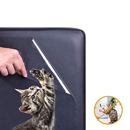 Sofa Cover - 5 Pack Furniture Protectors From Cats Pet Couch Protector Cat Dog Claw Guards Self Adhesive Pads - Indoor Navy Proof Grippers Wide Light Rectangular Arms Replacement Easy Rever