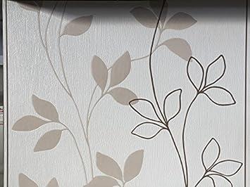 Vlies Tapete Rasch Home Style Creme Braun Beige Streifen Floral Putz Struktur  Floral Ranken Amazon De Baumarkt