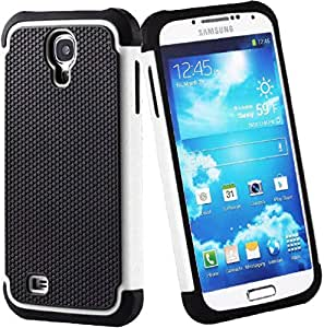 Samsung Galaxy S4 i9500 i9505 Shockproof Defender Armour Series Protection Case Cover White