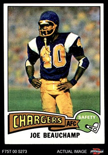 1975 Topps # 124 Joe Beauchamp San Diego Chargers (Football Card) Dean's Cards 7 - NM Chargers