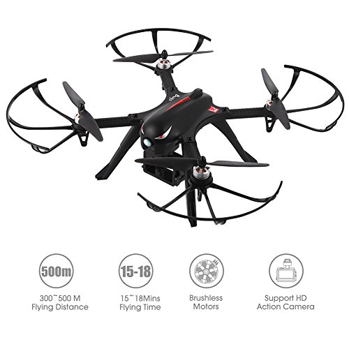RCtown Brushless Drone, MJX Bugs 3 Quadcopter, Powerful Brushless Motors – 300Meters Control Distance – 15 Minutes Flying Time – Support Gopro HD Camera
