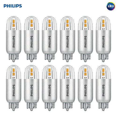 Philips LED T5 Capsule Non-Dimmable Accent Light Bulb: 200-Lumen, 3000-Kelvin, 2-Watt (18-Watt Equivalent), Wedgebase, Bright White, (2w Accent Led)