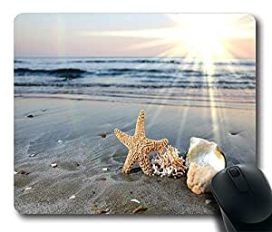 Design Mouse Pad Desktop Laptop Mousepads Starfish On The Beach In The Sun Comfortable Office Mouse Pad Mat Cute Gaming Mouse Pad
