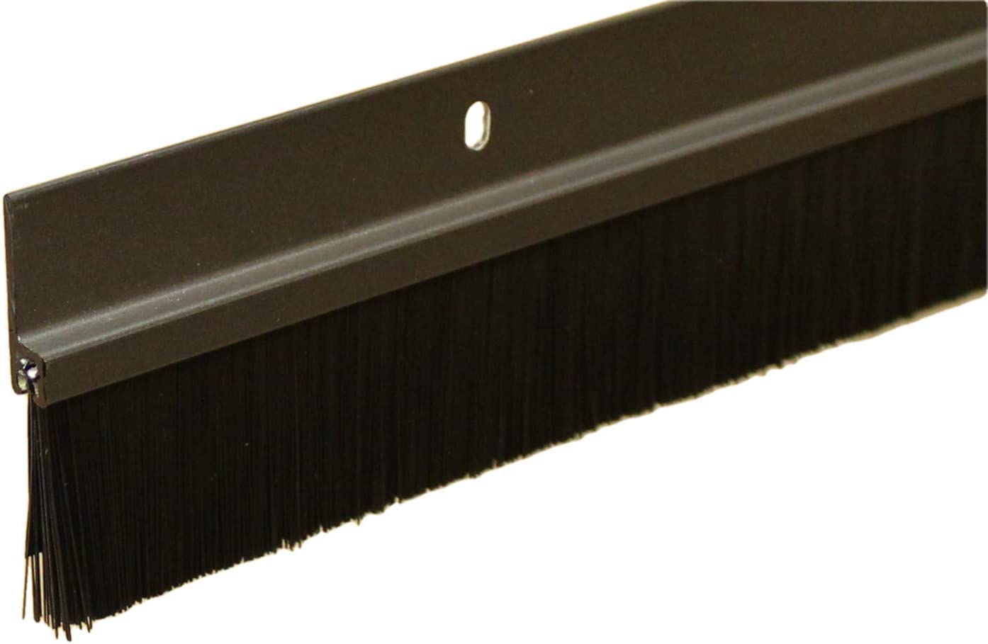 Brush Sweep Door Sweep with Black 1 1//2 Brush 3 FT, Clear Anodized