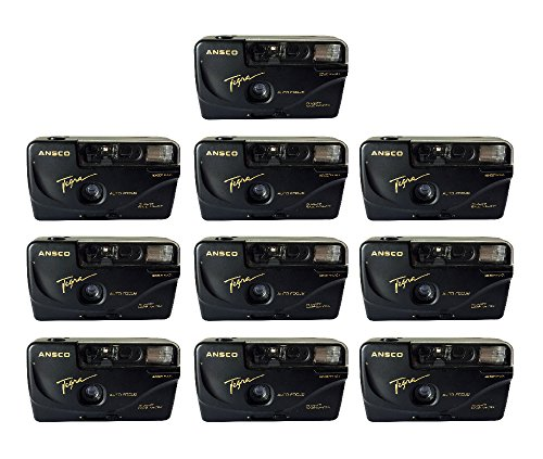 10x Ansco Tegra 35mm Film Camera Vintage Point & Shoot Flash Date/Time Imprint