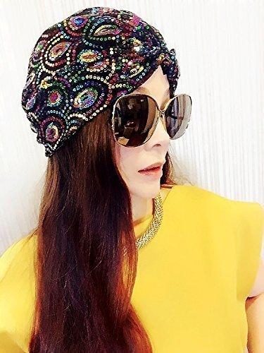 ★★Best Choice And Best Discounts★★Peacock Sequin Scarf,Women Turban,Full Turban,Turban Headband,Turban Hat,Stretch Turban,Fashion Turban,Head Wrap,Head Scarf,Headband,Fashion,Gift,Show,Party,Holiday