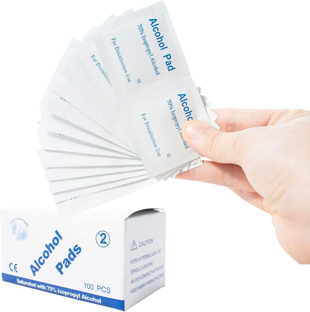 TOHHOT Toallitas 100pcs Set 6 3cm Almohadillas limpiadoras antis/épticas Toallitas Limpieza Esterilizaci/ón Accesorio de Primeros Auxilios