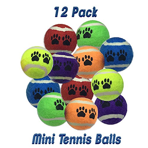 Amazing Pet 12 Pack of 2 Inch Mini Tennis Ball Dog and Cat Toys
