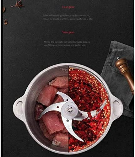 200W Elektrische Meat Grinder, Food Processor Kleine Chopper, 304 roestvrij staal Bowl, 2 snelheid instelbaar met groenten Ui Fruit Blender LMMS