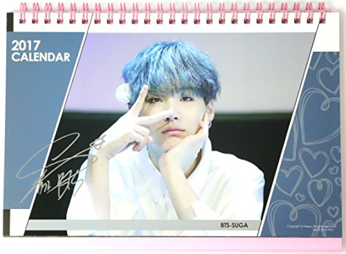 bangtan boys bts 2017 2018 desk calendar bts suga with specialized badge buy online in kuwait office product products in kuwait see prices