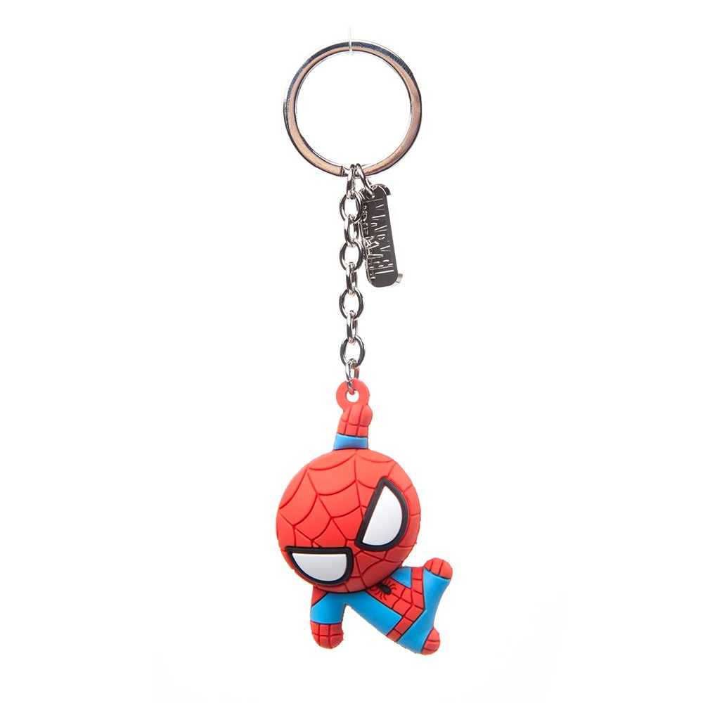Official Marvel Comics Spider-Man Character 3D Pendant Rubber Keychain | Red BIO-KE020304SPN
