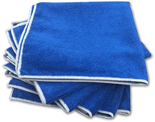 Antibacterial Microfiber Towels 6 Pack Set - Lab Tested 99.9% Effective Premium Large Zombie Cloths 16