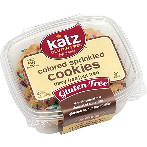 Katz Gluten-Free Colored Sprinkle Cookies | Dairy, Nut and Gluten-Free | Kosher (1 Pack, 6 Ounce)