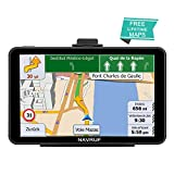 NAVRUF car GPS 7 inch Touch Screen Voice Prompt GPS Navigation Built-in 8GB No Need to Insert a Card, Support Postcode, Address Search and Car with Lifetime Maps