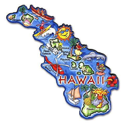 - ARTWOOD MAGNET - HAWAII STATE MAP