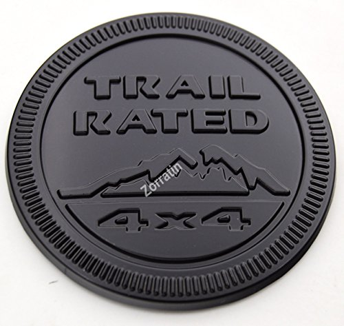 Gloss Black Metal Trail Rated 4x4 Round Emblem Badge for Jeep Wrangler Unlimited JK Cherookee Rubicon Liberty Patriot Latitude Rubicon Jeep Trail