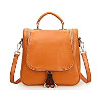Kattee 4-Way Ladies' Cow Leather Small Backpack Shoulder Tote Bags