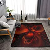 Bedroom Living Room Kitchen King Size Kitchen Rugs Home Decor - Classic Horror Blood Splatter Black Red Floor Mat Doormats Quick Dry Throw Bath Rugs Exercise Mat Throw Rugs Carpet