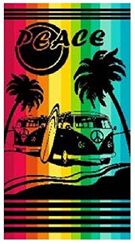 Toalla playa 100% algodon egipcio (peace multicolor) (160 x 180 CM)