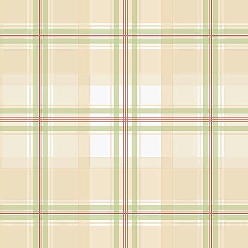 (Manhattan Comfort NWKE29915 Portsmouth Plaid Textured Wallpaper, Tan Multi-Colored)