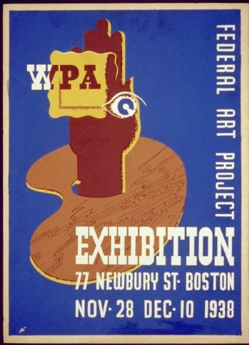 Photo: WPA Federal Art Project Exhibition,77 Newbury - Map Newbury Boston Street
