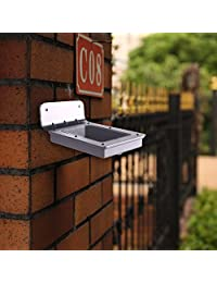 Outdoor Solar Light Solar Panel Powered Motion Sensor Lights Wall Mount Security Lamp for Patio, Deck, Path and Garden