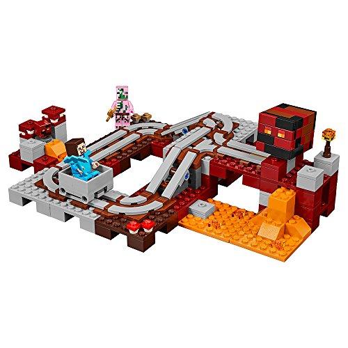 51B3Kf3mFRL - LEGO Minecraft The Nether Railway 21130