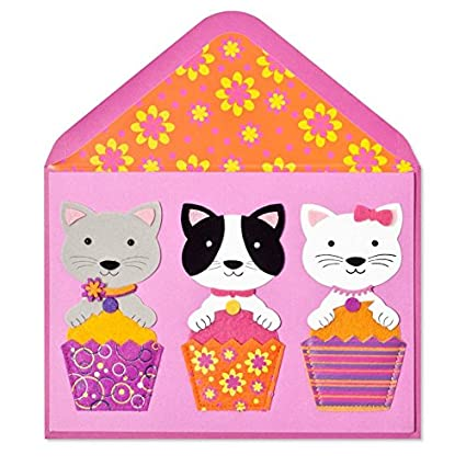 Papyrus Cat Cupcakes Birthday Card For Her