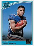 Saquon Barkley 2018 Donruss Short Printed Mint Rated Rookie Card #306 Picturing this