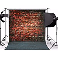 Mohoo Background 5X7ft Silk Retro Brick Wall Floor Photography Backdrop for Photo Studio Props 1.5×2.1m
