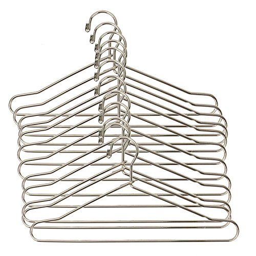 HUELE 10pcs Cute Dollhouse Clothes Hang Miniature Wire Clothes Stand (Silver)