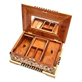 Two Layer Thuya Wood Jewelry Box with Mirror