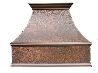 "MCM3 Wall Mounted Copper Range Hood 36""L x 24""W (front to back) x 30""H"