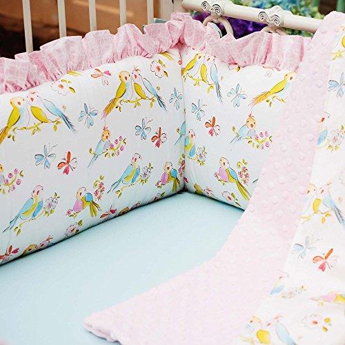 Love Bird Crib Bedding (Carousel Designs Love Birds Crib Bumper)