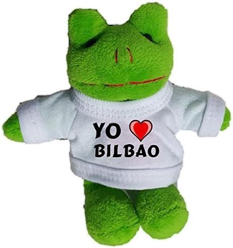 Rana de peluche (llavero) con Amo Bilbao en la camiseta (ciudad ...