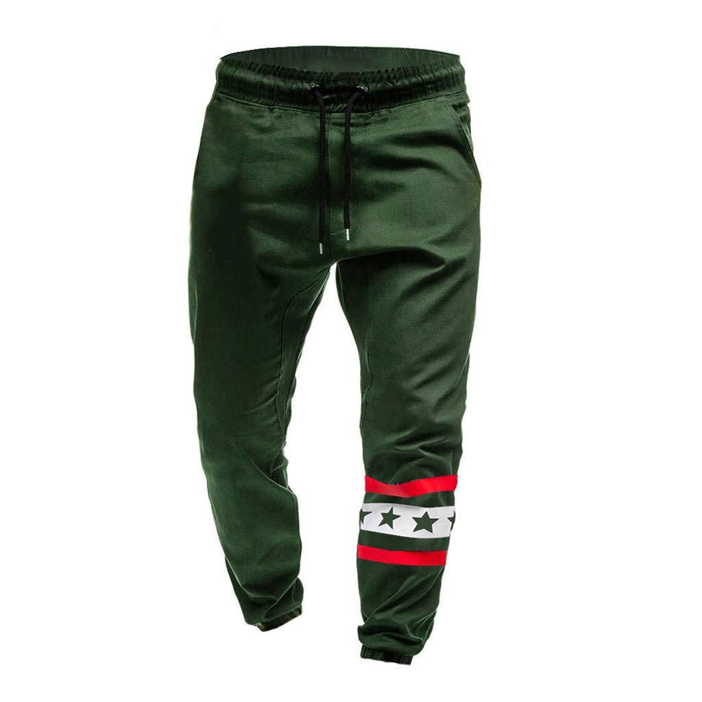 Pantaloni Sportivi Tinta Unita Lungo da Jogging con Cintura Elastica Sportivi Uomo Traspirante e Casual Ideali per Jogger da Ginnastica MMLC/_Pantaloni Pantaloni da Lavoro Uomo