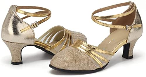 Girls Latin Dance Shoes Soft-Sole Satin Ballroom Shoes