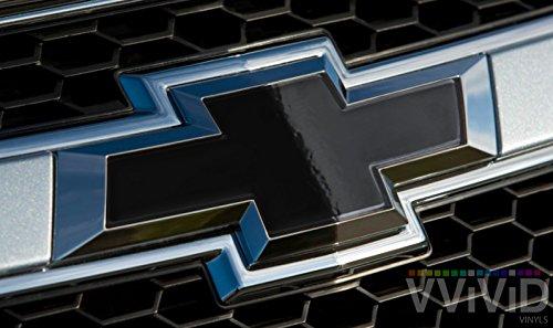 VViViD XPO Gloss Black Chevy Bowtie Logo Wrap Kit (Extra-Wide Roll (17.75″ x 60″))