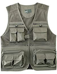 Mens Photography Fishing Travel Quick Dry Vest Breathable Waistcoat Jackets