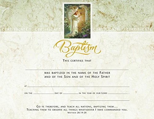 Certif-Baptism (Christ At Hearts Door) (Package of 6)