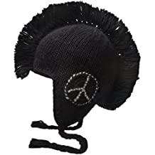 Nirvanna Designs CH82P Peace Mohawk Hat with Fleece